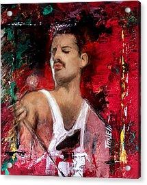 Freddie Murcury Acrylic Print by Mark Tonelli