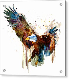 Free And Deadly Eagle Acrylic Print by Marian Voicu
