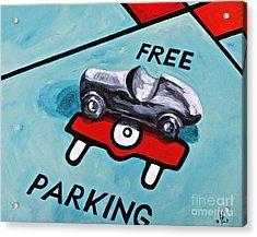 Free Parking Acrylic Print by Herschel Fall