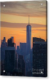 Freedom Tower At Sunset Acrylic Print by Diane Diederich