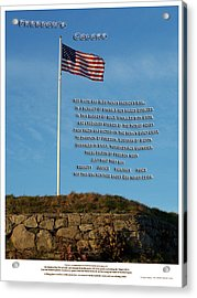 Freedom's Colors Acrylic Print by Patrick J Maloney