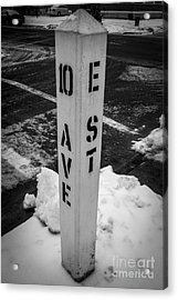 Freeze Out Acrylic Print by David Rucker