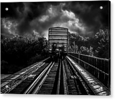 Freight Train Blues Acrylic Print by Bob Orsillo
