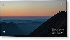 Fremont Lookout Sunset Layers Pano Acrylic Print by Mike Reid