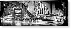 Fremont Street Experience Bw Acrylic Print by Az Jackson