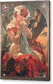 French Biscuit Ad 1904 Acrylic Print by Padre Art