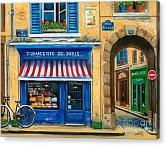 French Cheese Shop Acrylic Print by Marilyn Dunlap