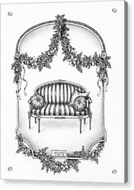French Country Sofa Acrylic Print by Adam Zebediah Joseph
