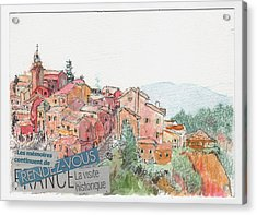 French Hill Top Village Acrylic Print by Tilly Strauss