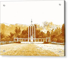French Huguenot Monument In Franschhoek  Acrylic Print by Jan Hattingh