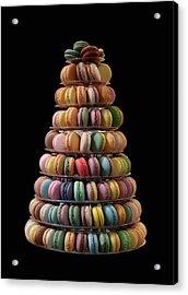 French Macarons Acrylic Print by Rona Black