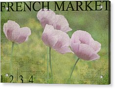 French Market Series P Acrylic Print by Rebecca Cozart