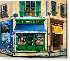 French Pastry Shop Acrylic Print by Marilyn Dunlap