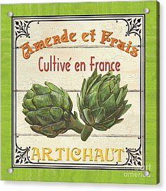 French Vegetable Sign 2 Acrylic Print by Debbie DeWitt