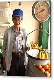 Fresh Bananas For Sale Acrylic Print by Don Wolf