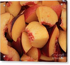 Fresh Peaches Acrylic Print by Carol Groenen