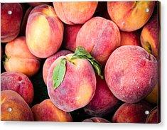 Fresh Peaches Acrylic Print by Dina Calvarese