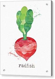 Fresh Radish Acrylic Print by Linda Woods