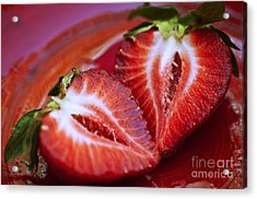 Fresh Strawberries Acrylic Print by Ray Laskowitz - Printscapes
