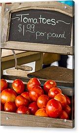 Fresh The Garden Tomatoes Acrylic Print by Teri Virbickis