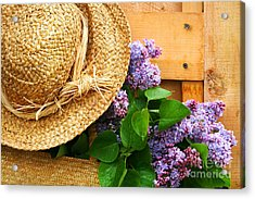 Freshly Picked Lilacs Acrylic Print by Sandra Cunningham