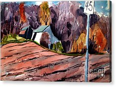 Fressh Plow Before Winter Wheat Acrylic Print by Charlie Spear