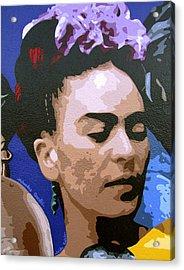 Frida Kahlo Acrylic Print by Roberto Valdes Sanchez