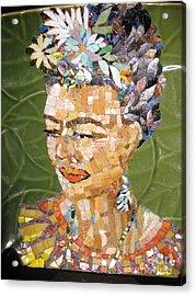 Frida Acrylic Print by Mitch Brookman