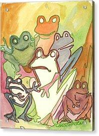 Frog Group Portrait Acrylic Print by James Christiansen