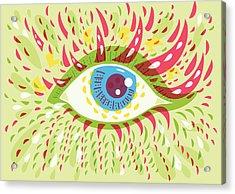 From Looking Psychedelic Eye Acrylic Print by Boriana Giormova
