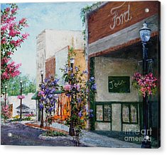 Front Street Acrylic Print by Virginia Potter
