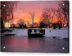 Frozen Sunrise Acrylic Print by Frozen in Time Fine Art Photography
