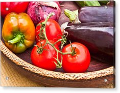 Fruit And Vegetables Acrylic Print by Tom Gowanlock