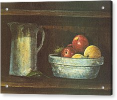 Fruit Bowl Acrylic Print by Charles Roy Smith