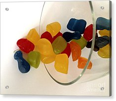 Fruit Gummi Candy Acrylic Print by Cheryl Young