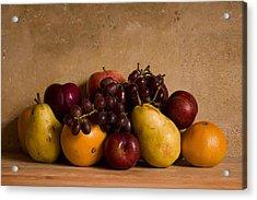 Fruit Still Life Acrylic Print by Andrew Soundarajan