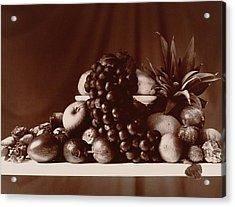 Fruit Still Life Acrylic Print by Elspeth Ross