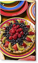 Fruit Tart Pie Acrylic Print by Garry Gay