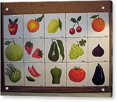 Fruits And Vegetables Acrylic Print by Hilda and Jose Garrancho
