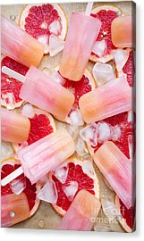 Fruity Pink Popsicles Acrylic Print by Kati Molin