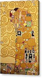 Fulfilment Stoclet Frieze Acrylic Print by Gustav Klimt