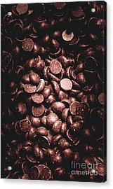 Full Frame Background Of Chocolate Chips Acrylic Print by Jorgo Photography - Wall Art Gallery