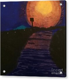 Full Moon After A Rainy Day Acrylic Print by Ishy Christine Degyansky