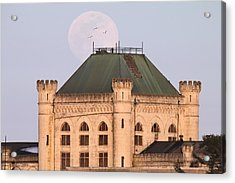 Full Moon Over Portsmouth Naval Prison Acrylic Print by Eric Gendron