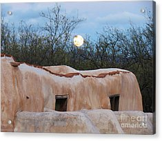 Full Moon Over Tumacacori Acrylic Print by Feva Fotos