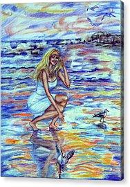 Fun In The Sun Acrylic Print by Yelena Rubin
