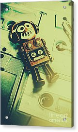 Funky Mixtape Robot Acrylic Print by Jorgo Photography - Wall Art Gallery