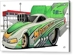 Funny Car Toon Acrylic Print by Lyle Brown