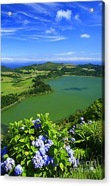 Furnas Lake Acrylic Print by Gaspar Avila