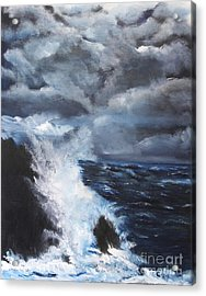 Fury Acrylic Print by Chaline Ouellet
